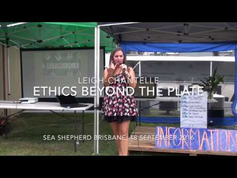 Ethics Beyond the Plate workshop by Leigh-Chantelle at Ocean Defence Tour, Sea Shepherd Brisbane