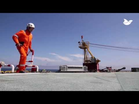 Bird dispersal laser at the Shell K8-FA-3 (K83) offshore platform