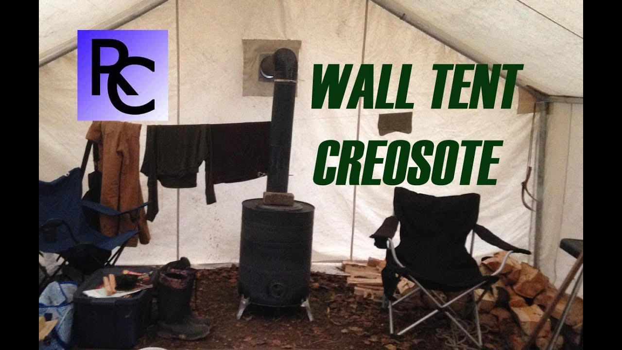 Wall Tents Wood Stoves & Creosote Buildup - YouTube