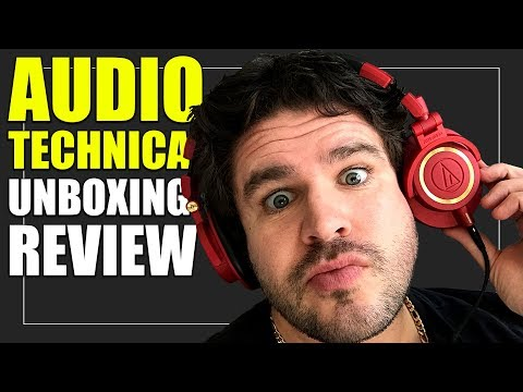 Audio Technica ATH M50x Limited Edition Iron Man Headphones   Unboxing Review