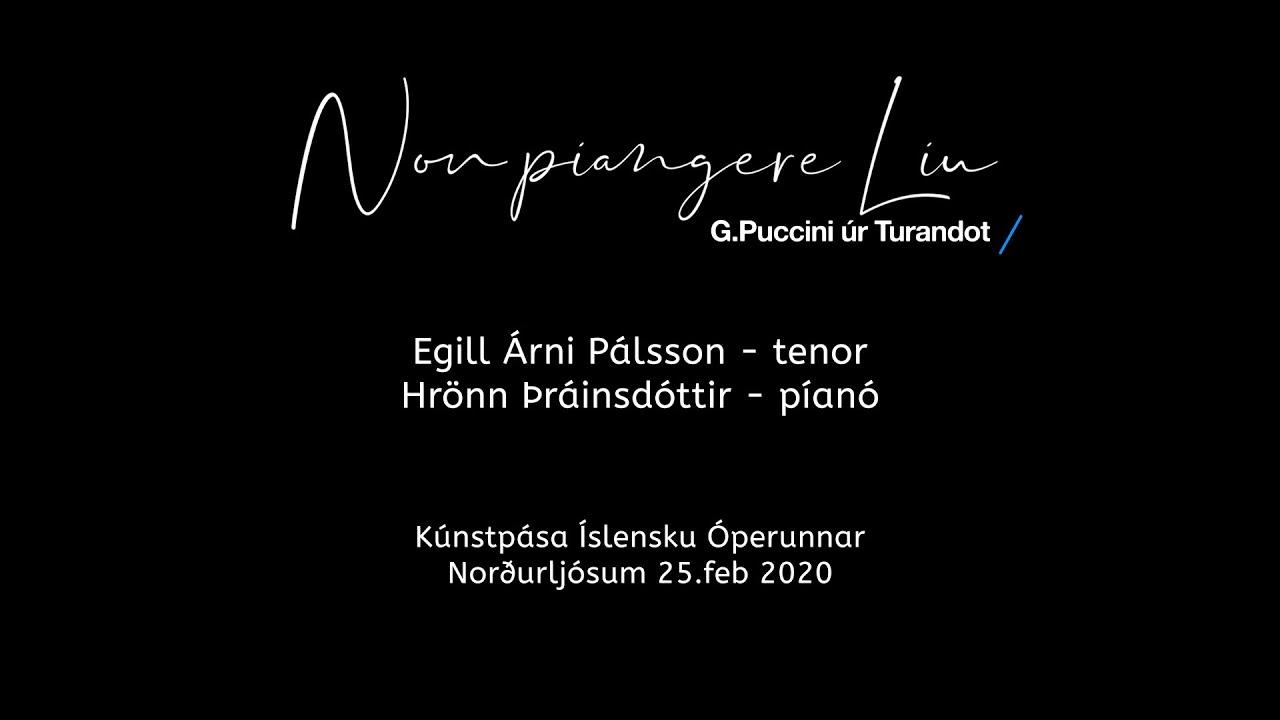 Non piangere Liu - Egill Árni Pálsson og Hrönn Þráinsdóttir