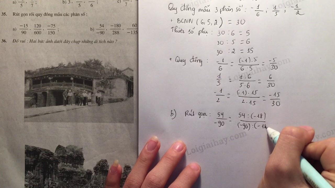 Giải bài 35 trang 20 SGK toán 6 tập 2