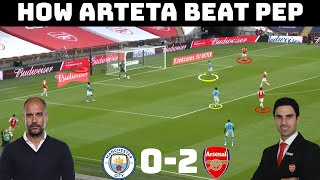 Tactical Analysis: Arsenal 20 Manchester City | How The Student Beat The Master | FA CUP |