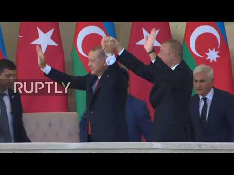 Azerbaijan: Erdogan attends military parade during Baku visit