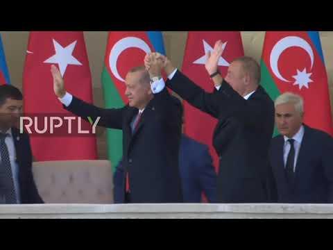 Azerbaijan: Erdogan attends military parade during Baku visit