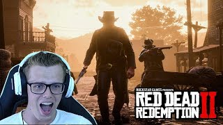 RED DEAD REDEMPTION 2 GAMEPLAY REACTION ! - OFFICIAL GAMEPLAY TRAILER #1 (RDR 2 Gameplay)