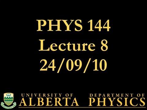 PHYS 144 Lecture 8: Uniform Circular Motion
