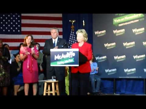 Terry McAuliffe Introduces Hillary Clinton; Clinton Speaks at Event on 10/19/13