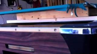 How to refelt a coin operated pool table