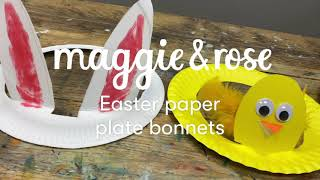 How to make Easter Bonnets out of paper plates
