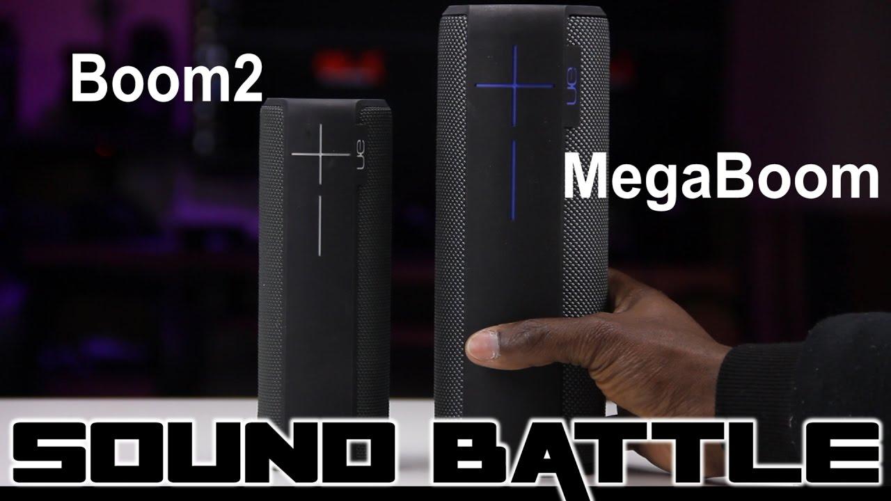 Sound Battle: UE Megaboom VS UE boom2 -The real sound comparison