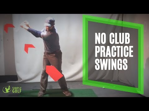 No Club Practice Golf Swings Pull Your Thumb For Width   Golf Swing Sequence