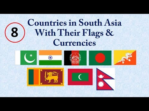 Countries in South Asia With Flags & Currency | Video By | inFo Roll