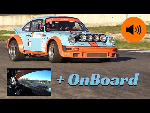 Porsche 911 SC Gr.4 action + On-Board camera - 1° Pavia Rally Circuit 2016 - Huge Flames!