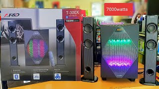 F&D T300X SOUND TEST (7000watts WITH POWERFUL BASS)ONLY 7000rs