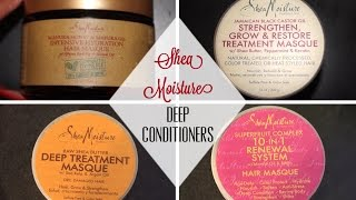 Shea Moisture Deep Conditioner Comparison | Ashley Harris
