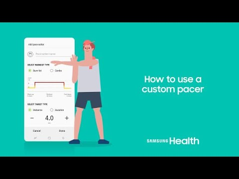 Samsung Health: How to use a custom pacer