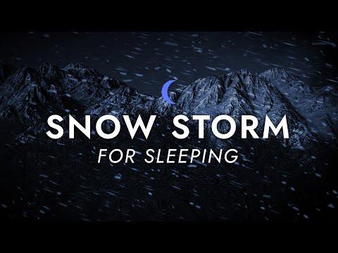 Snow Storm Sounds for Sleeping - Dimmed Screen | Blizzard Storm Sounds - Deep Sleep