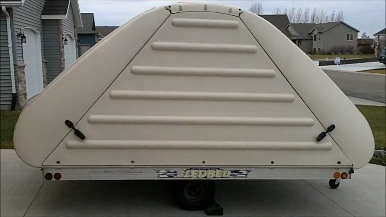 2004 sledbed covered clamshell trailer $2000 obo - youtube