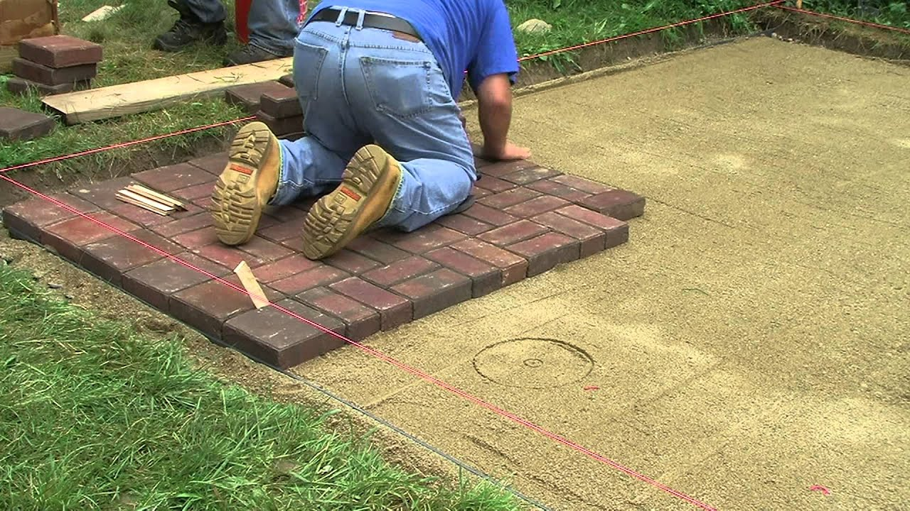 New Patio   Laying Pavers (fast)   YouTube