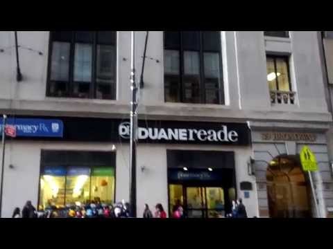 Duane Reade Pharmacy on 39 Broadway in the Financial District, New York City, New York