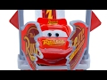 DISNEY PIXAR CARS TRANSFORMING MACK HAULER LIGHTNING MCQUEEN JUMPS LAUNCHER PLAYSET RUSTEZE TOYS