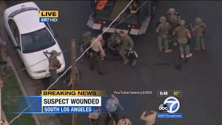 Car Chase Ends In A Shootout on LIVE TV! Los Angeles Police Chase - wwwy2000