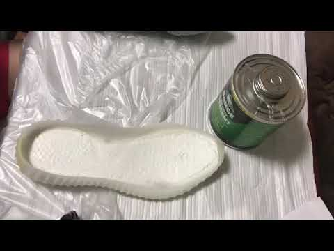 加水分解した adicolorのソールスワップ スニーカーリメイク リペア BARGE INFINITY CEMENT