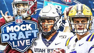 2020 NFL Mock Draft LIVE (2 Round NFL Mock Draft FROM LIVE STREAM)