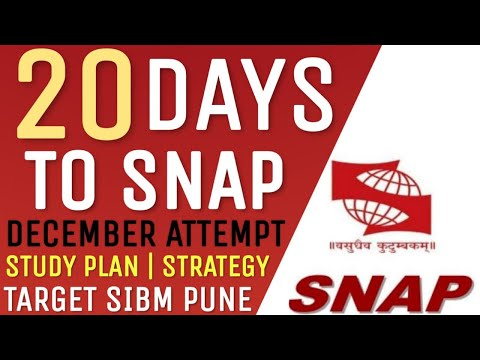 20 Days to SNAP Exam | How to Crack SNAP Exam | Study Planning & Strategy | Target SIBM Pune