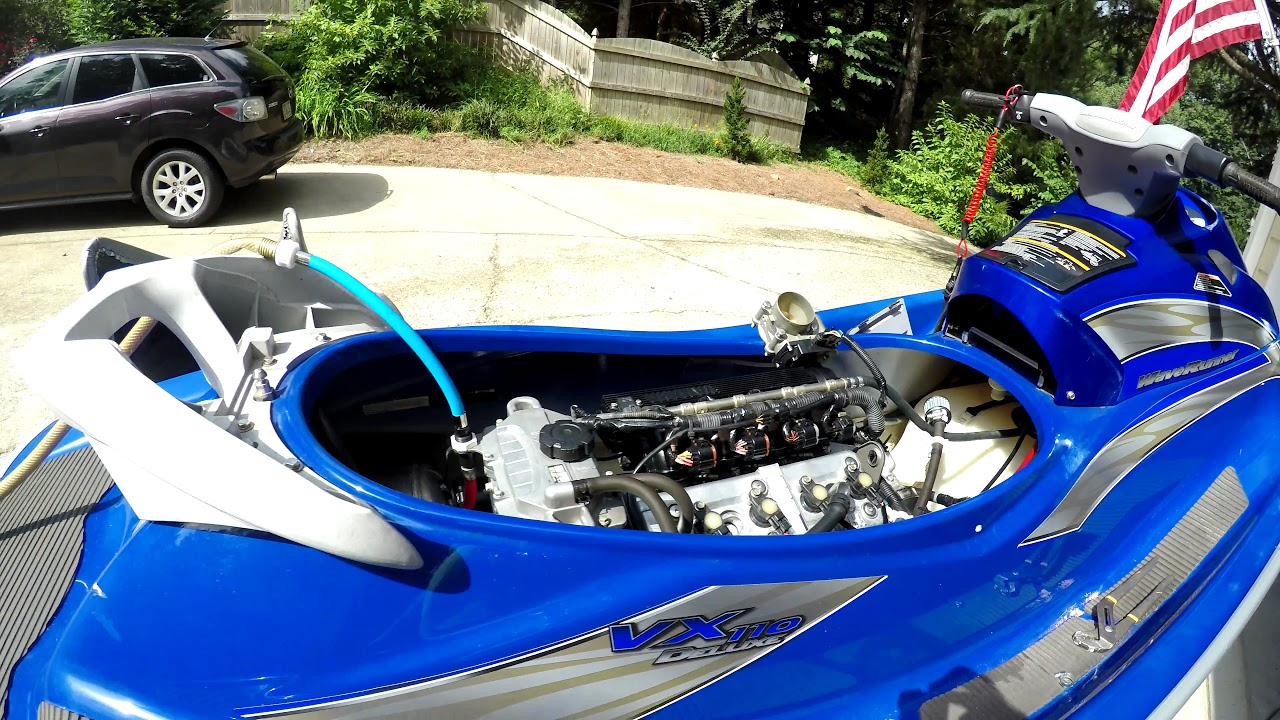 2005 Yamaha VX110 Airbox Removal and Uni install