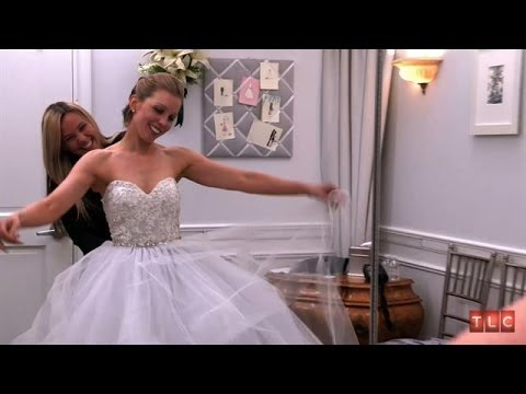 The bride wore blue say yes to the dress youtube for Rainbow wedding dress say yes to the dress