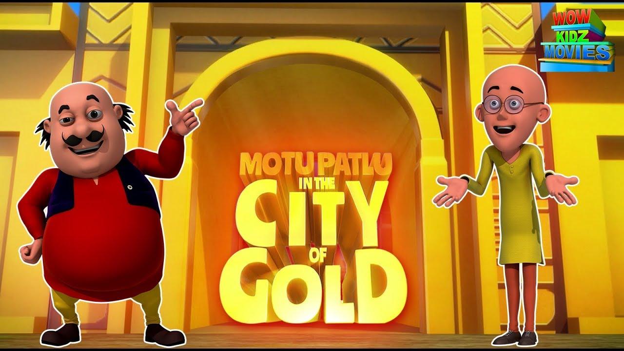 Download Motu Patlu In Gold City - Full Movie | Animated Movies |  Wow Kidz Movies