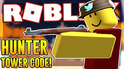 NEW CODE FOR THE HUNTER TOWER in TOWER DEFENSE SIMULATOR | Roblox