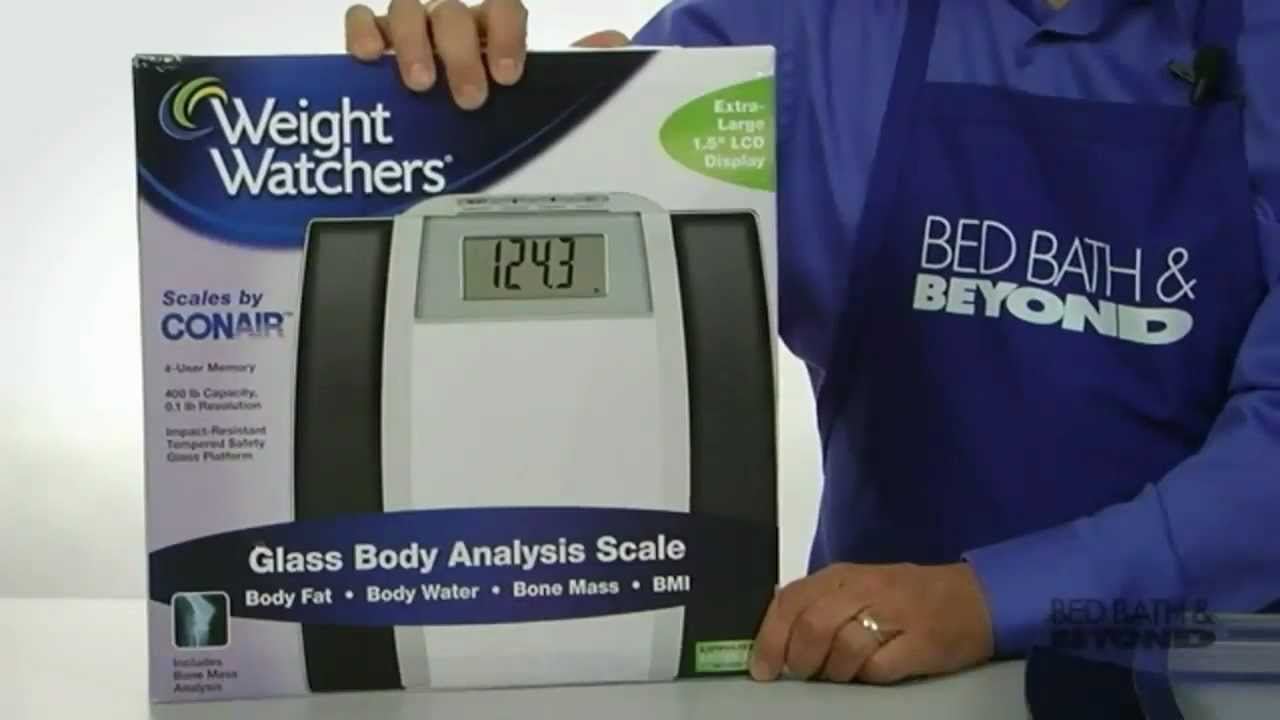Weight Watchers Glass Body Analysis Scale at Bed Bath  Beyond  YouTube