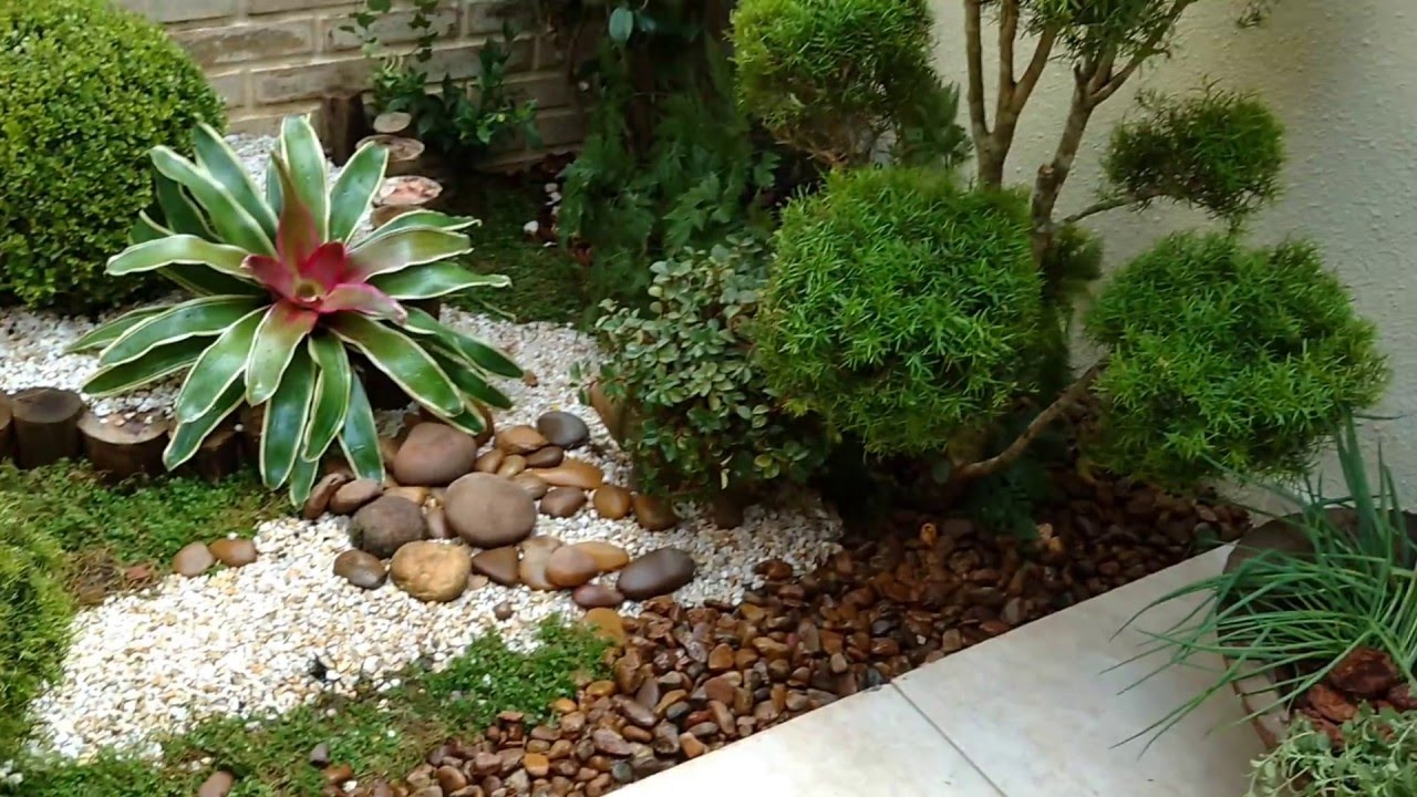 Jardim em pequeno espa o aos fundos da residencia youtube for Ideas para jardines pequenos fotos