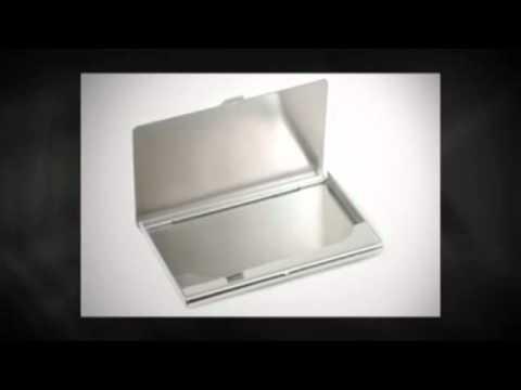 Stainless Steel High Polish Business Card Holder Www.ExecutiveGiftShoppe.com