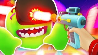 CREATING ALIEN MEESEEKS AND SHOOTING IT Rick and Morty Virtual Rick ality Funny Gameplay