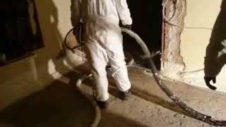 Izolacja podłogi pianką poliuretanową