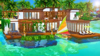 G ANT BEACH HOUSE  Sims 4 Speed Build