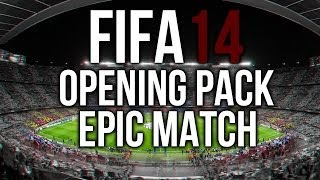 FIFA14 Ultimate Team | PACK OPENING + EPIC LIVE MATCH by veloX