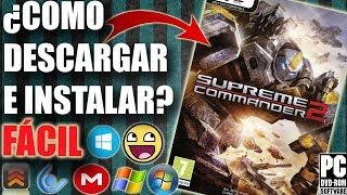 Descargar Supreme Commander 2 para PC Full En Español (Fácil)
