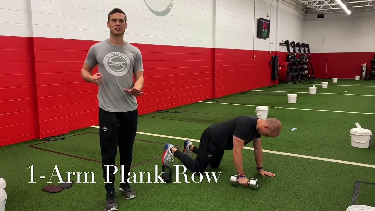 1-Arm Plank Row