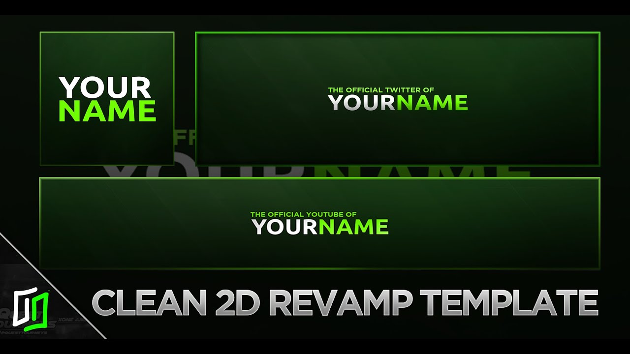 Clean 2d revamp template youtube twitter bannerheader clean 2d revamp template youtube twitter bannerheader profile picture photoshop 2016 pronofoot35fo Image collections