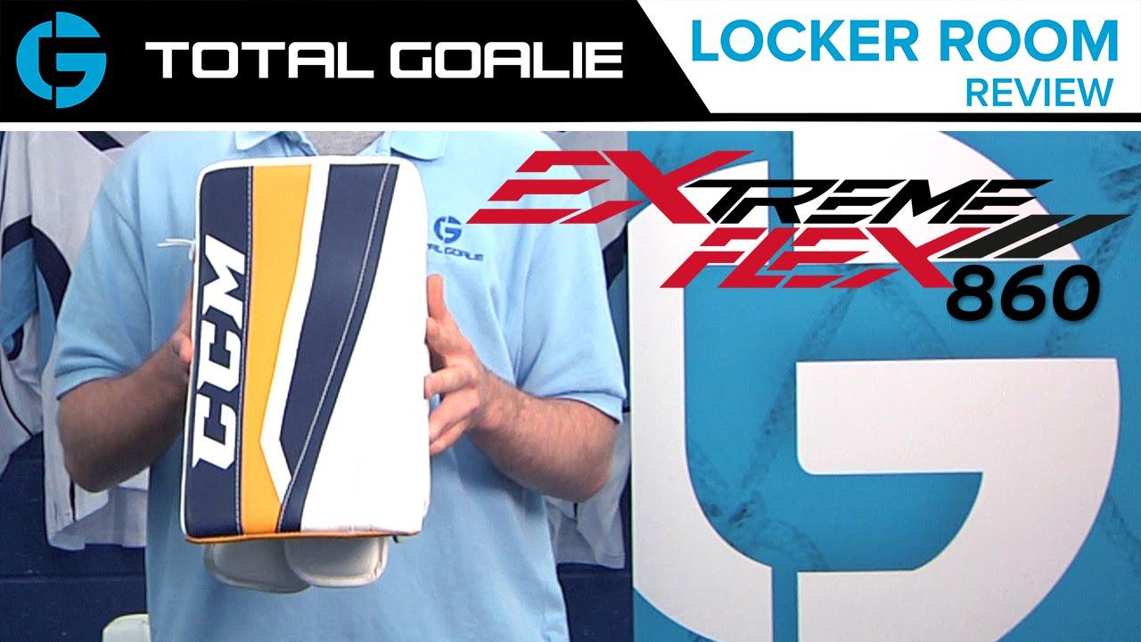 a7f4e13880b CCM Extreme Flex II 860 Blocker    Locker Room Review. Total Goalie