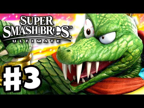 King K. Rool Unlocked! - Super Smash Bros Ultimate - Gameplay Walkthrough Part 3 (Nintendo Switch)