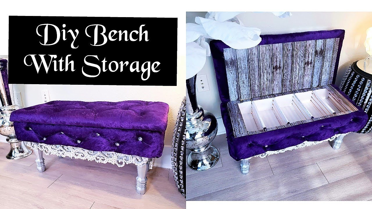 house decorating ideas on a budget.htm diy crystal tufted bench with storage inexpensive home decor  diy crystal tufted bench with storage