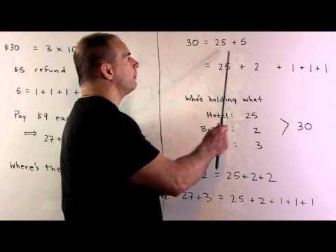 The Bellhop Problem: 27 + 2 = 30