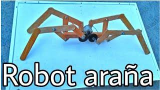 Como hacer un robot araña / casero / muy fácil de hacer