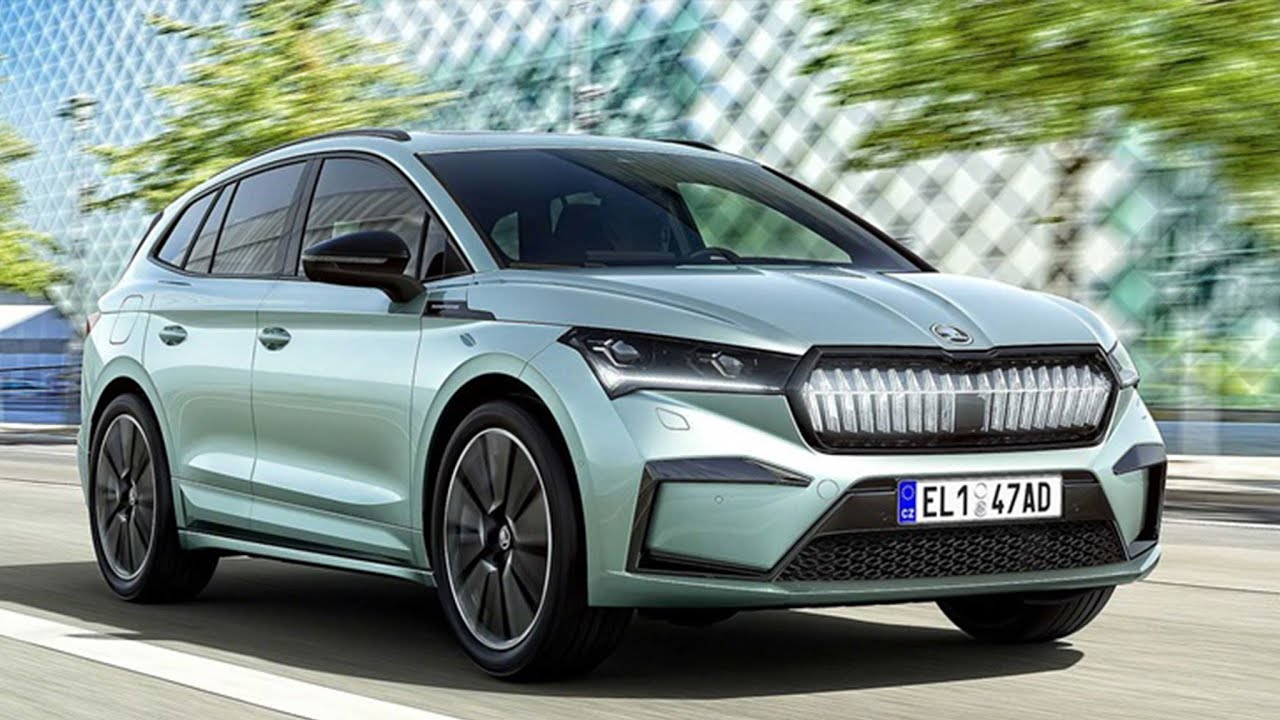 รถยนต์ไฟฟ้าใหม่  สุดล้่ำ SUV Skoda Enyaq iV EV 2021 วิ่งได้ 508 Km 302 แรงม้า exterior, interior